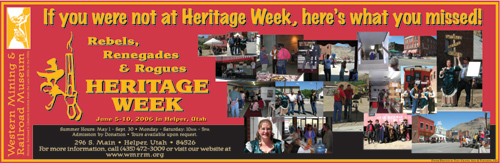 Helper, Utah's Heritage Week 2006 Banner